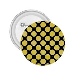 Circles2 Black Marble & Yellow Watercolor (r) 2 25  Buttons