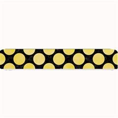 Circles2 Black Marble & Yellow Watercolor (r) Small Bar Mats