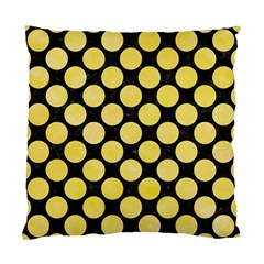 Circles2 Black Marble & Yellow Watercolor (r) Standard Cushion Case (two Sides)