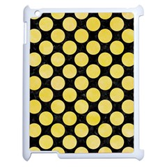 Circles2 Black Marble & Yellow Watercolor (r) Apple Ipad 2 Case (white)