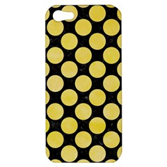 Circles2 Black Marble & Yellow Watercolor (r) Apple Iphone 5 Hardshell Case
