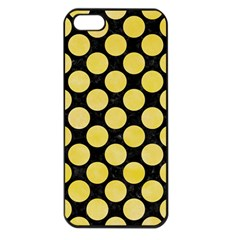 Circles2 Black Marble & Yellow Watercolor (r) Apple Iphone 5 Seamless Case (black)