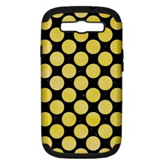Circles2 Black Marble & Yellow Watercolor (r) Samsung Galaxy S Iii Hardshell Case (pc+silicone)