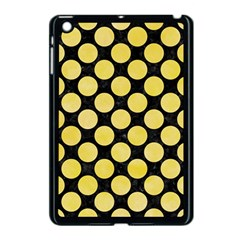 Circles2 Black Marble & Yellow Watercolor (r) Apple Ipad Mini Case (black)