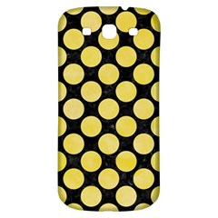 Circles2 Black Marble & Yellow Watercolor (r) Samsung Galaxy S3 S Iii Classic Hardshell Back Case