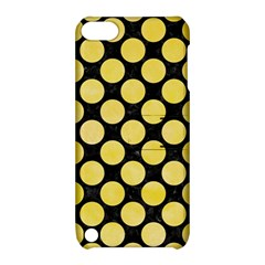 Circles2 Black Marble & Yellow Watercolor (r) Apple Ipod Touch 5 Hardshell Case With Stand