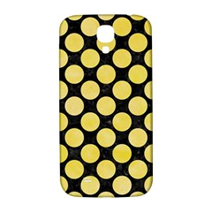 Circles2 Black Marble & Yellow Watercolor (r) Samsung Galaxy S4 I9500/i9505  Hardshell Back Case
