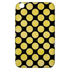 Circles2 Black Marble & Yellow Watercolor (r) Samsung Galaxy Tab 3 (8 ) T3100 Hardshell Case