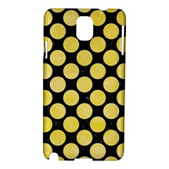 Circles2 Black Marble & Yellow Watercolor (r) Samsung Galaxy Note 3 N9005 Hardshell Case