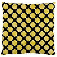 Circles2 Black Marble & Yellow Watercolor (r) Standard Flano Cushion Case (one Side)