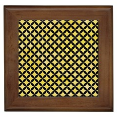 Circles3 Black Marble & Yellow Watercolor Framed Tiles