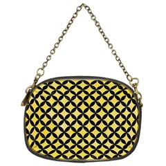 Circles3 Black Marble & Yellow Watercolor Chain Purses (one Side)
