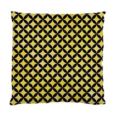 Circles3 Black Marble & Yellow Watercolor Standard Cushion Case (two Sides)