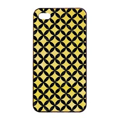 Circles3 Black Marble & Yellow Watercolor Apple Iphone 4/4s Seamless Case (black)