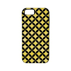 Circles3 Black Marble & Yellow Watercolor Apple Iphone 5 Classic Hardshell Case (pc+silicone)