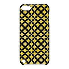 Circles3 Black Marble & Yellow Watercolor Apple Ipod Touch 5 Hardshell Case With Stand