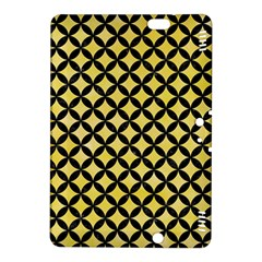 Circles3 Black Marble & Yellow Watercolor Kindle Fire Hdx 8 9  Hardshell Case
