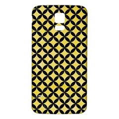 Circles3 Black Marble & Yellow Watercolor Samsung Galaxy S5 Back Case (white)