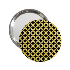 Circles3 Black Marble & Yellow Watercolor (r) 2 25  Handbag Mirrors