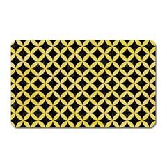 Circles3 Black Marble & Yellow Watercolor (r) Magnet (rectangular)