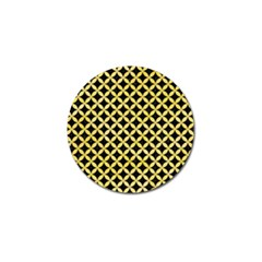 Circles3 Black Marble & Yellow Watercolor (r) Golf Ball Marker (4 Pack)