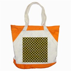 Circles3 Black Marble & Yellow Watercolor (r) Accent Tote Bag