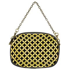 Circles3 Black Marble & Yellow Watercolor (r) Chain Purses (two Sides)