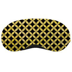 Circles3 Black Marble & Yellow Watercolor (r) Sleeping Masks