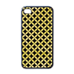 Circles3 Black Marble & Yellow Watercolor (r) Apple Iphone 4 Case (black)
