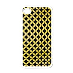 Circles3 Black Marble & Yellow Watercolor (r) Apple Iphone 4 Case (white)