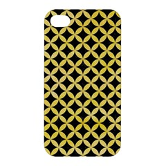 Circles3 Black Marble & Yellow Watercolor (r) Apple Iphone 4/4s Hardshell Case