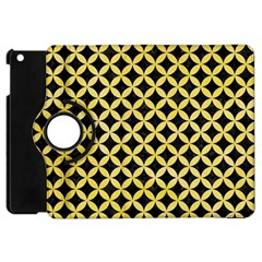 Circles3 Black Marble & Yellow Watercolor (r) Apple Ipad Mini Flip 360 Case
