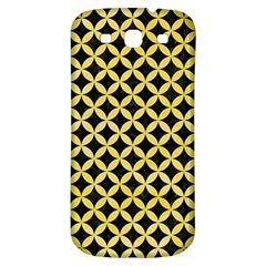 Circles3 Black Marble & Yellow Watercolor (r) Samsung Galaxy S3 S Iii Classic Hardshell Back Case