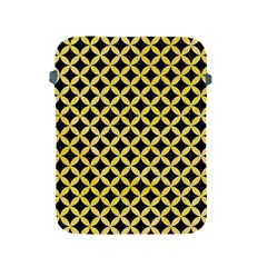 Circles3 Black Marble & Yellow Watercolor (r) Apple Ipad 2/3/4 Protective Soft Cases