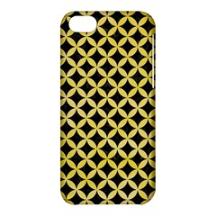 Circles3 Black Marble & Yellow Watercolor (r) Apple Iphone 5c Hardshell Case