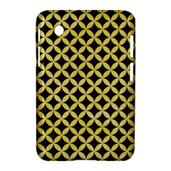 Circles3 Black Marble & Yellow Watercolor (r) Samsung Galaxy Tab 2 (7 ) P3100 Hardshell Case