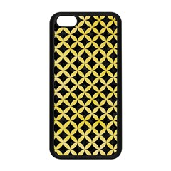 Circles3 Black Marble & Yellow Watercolor (r) Apple Iphone 5c Seamless Case (black)