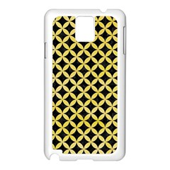 Circles3 Black Marble & Yellow Watercolor (r) Samsung Galaxy Note 3 N9005 Case (white)