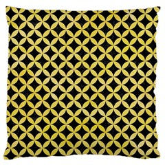 Circles3 Black Marble & Yellow Watercolor (r) Standard Flano Cushion Case (one Side)