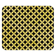 Circles3 Black Marble & Yellow Watercolor (r) Double Sided Flano Blanket (small)