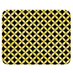 Circles3 Black Marble & Yellow Watercolor (r) Double Sided Flano Blanket (medium)
