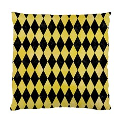 Diamond1 Black Marble & Yellow Watercolor Standard Cushion Case (two Sides)