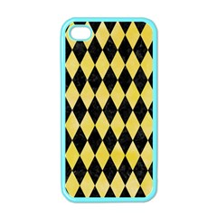 Diamond1 Black Marble & Yellow Watercolor Apple Iphone 4 Case (color)