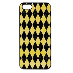 Diamond1 Black Marble & Yellow Watercolor Apple Iphone 5 Seamless Case (black)