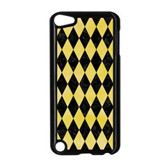 Diamond1 Black Marble & Yellow Watercolor Apple Ipod Touch 5 Case (black)