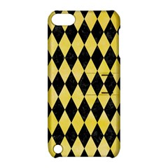 Diamond1 Black Marble & Yellow Watercolor Apple Ipod Touch 5 Hardshell Case With Stand