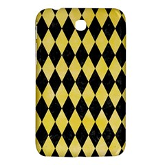 Diamond1 Black Marble & Yellow Watercolor Samsung Galaxy Tab 3 (7 ) P3200 Hardshell Case