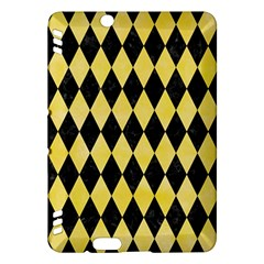 Diamond1 Black Marble & Yellow Watercolor Kindle Fire Hdx Hardshell Case