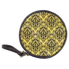 Damask1 Black Marble & Yellow Watercolor Classic 20 Cd Wallets