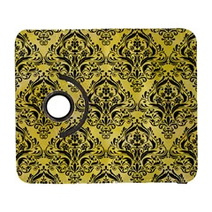 Damask1 Black Marble & Yellow Watercolor Galaxy S3 (flip/folio)